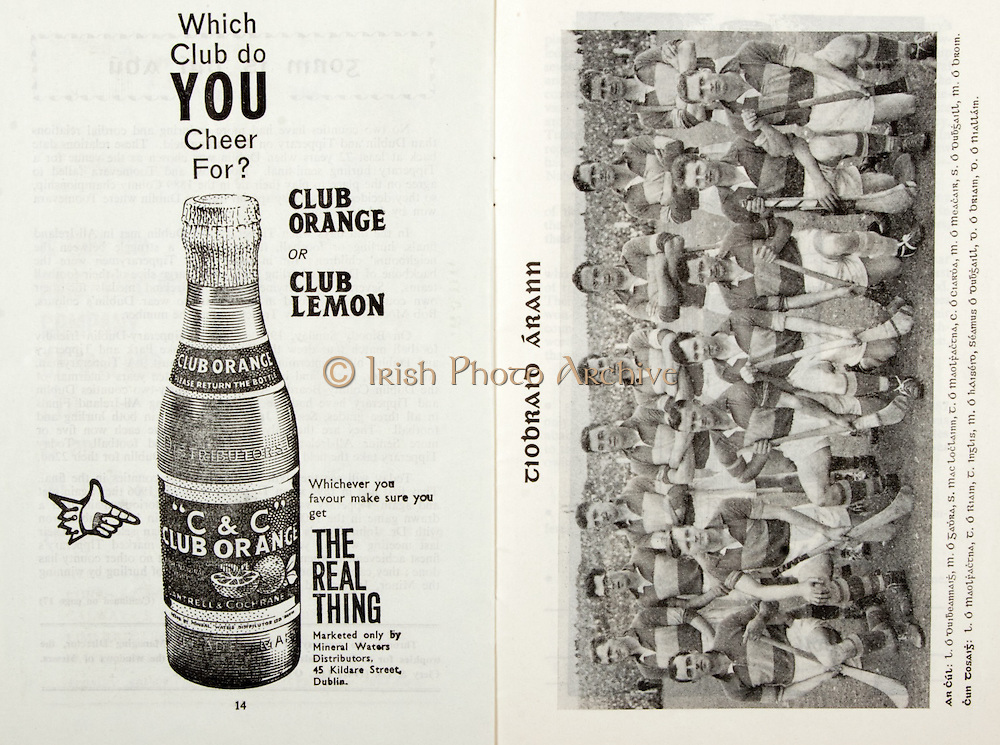 All Ireland Senior Hurling Championship Final,.03.09.1961, 09.03.1961, 3rd September 1961,.Minor Tipperary v Kilkenny, .Senior Dublin v Tipperary, Tipperary 0-16 Dublin 1-12,..C & C, The real thing, .45 Kildare Street Dublin,