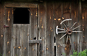 Detail of old horse barn at The Dahmen barn, Uniontown, Washington, Palouse Country.  The Dahmen barn was built in 1935 is now home to artists' space.