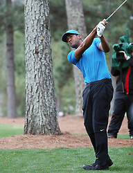 April 7, 2018 - Augusta, GA, USA - Tony Finau hits from the 1st fairway during the third round of the Masters Tournament on Saturday, April 7, 2018, at Augusta National Golf Club in Augusta, Ga. (Credit Image: © Jason Getz/TNS via ZUMA Wire)