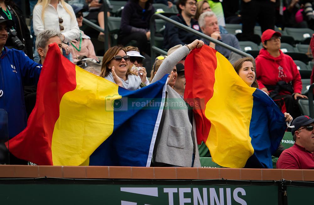 March 10, 2019 - Indian Wells, USA - Simona Halep Fans at the 2019 BNP Paribas Open WTA Premier Mandatory tennis tournament (Credit Image: © AFP7 via ZUMA Wire)