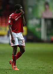 Charlton Athletic's Anfernee Dijksteel reacts at full time