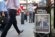 Front page of the London Evening Standard pictures Boris Johnson who has won the Covservative leadership race with over two thirds of the voteon 23rd July, 2019 in London, United Kingdom.Tomorrow he will formally take office as the new Conservative leader and Prime Minister of Great Britain and Northern Ireland.
