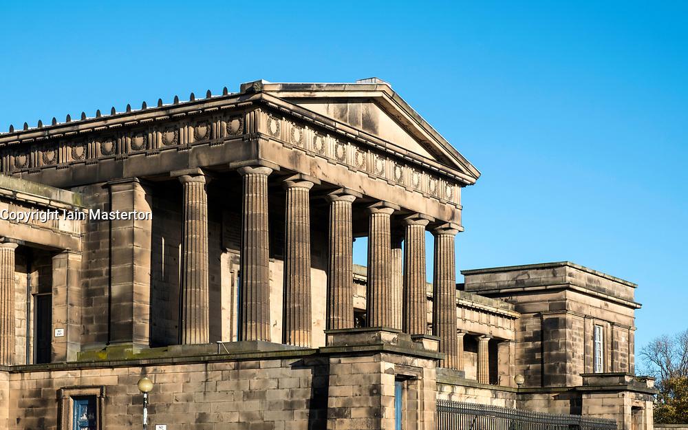 Edinburgh Old Royal High School or New Parliament Building on Calton Hill in Edinburgh, Scotland, United Kingdom