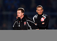 Mark Robins Manager of Rotherham United Wycombe Wanderers Vs Rotherham  United at Adams Park High Wycombe  Football League Div 2<br /> 23/02/2009. Credit Colorsport  / Kieran Galvin