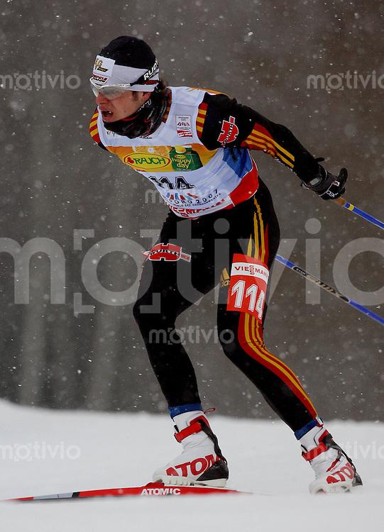Sapporo , 280207 , Nordische Ski Weltmeisterschaft  Maenner 15km Freistil ,  Franz GOERING (GER)