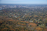 Aerial photo of the Nashville skyline overlooking East Nashville and a portion of Shelby Park.