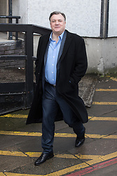 © Licensed to London News Pictures . 05/03/2017 . London , UK . ED BALLS leaves ITV studios on South Bank after appearing on the Peston on Sunday show . Photo credit: Joel Goodman/LNP