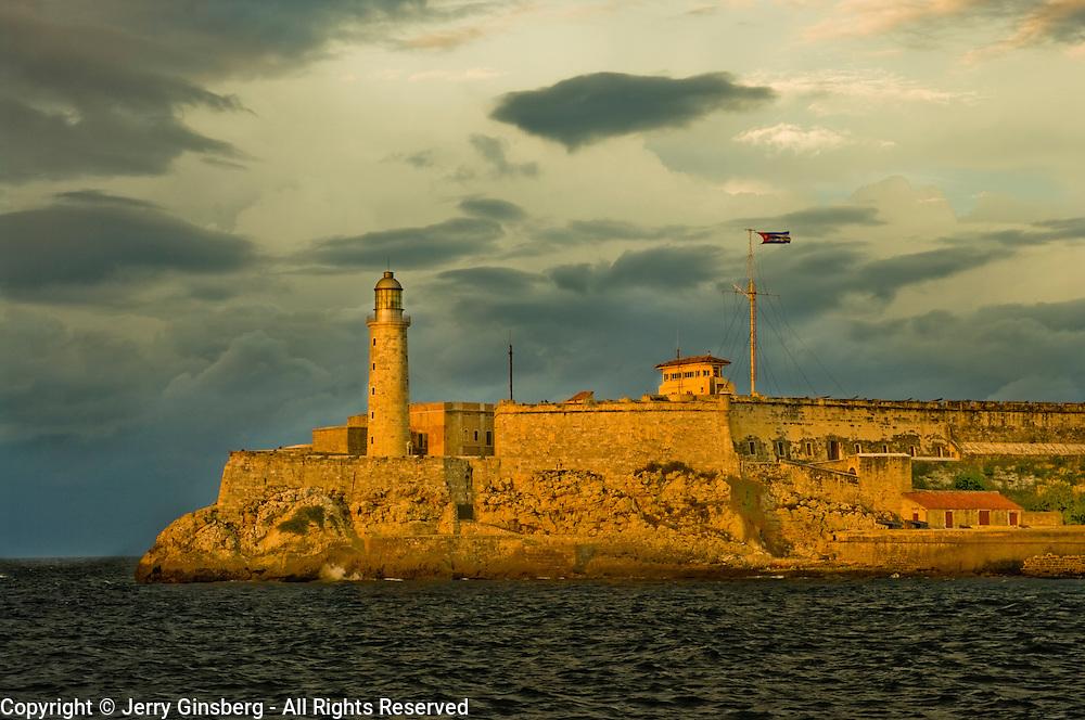 Castillo de los Tres Santos Reyes Magnos del Morro (El Morro Castle) guarding Havana harbor, Cuba.