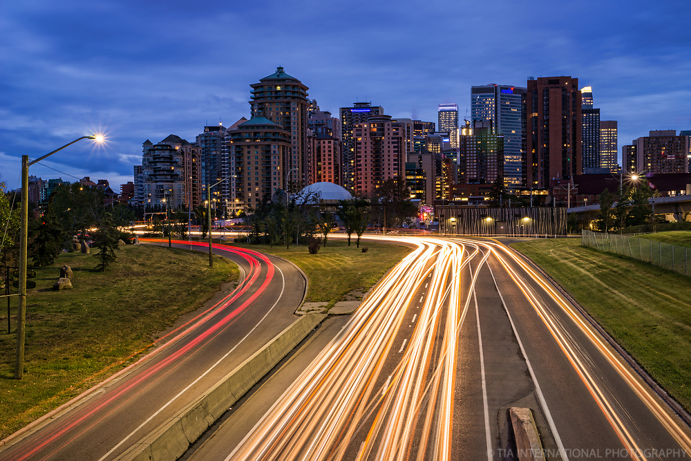 Bow Trail Highway & Calgary Skyline