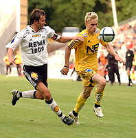 Fotball Tippeligaen 31.07.05 Rosenborg ( RBK ) - Bodø/Glimt <br /> 2-0<br /> Trond Olsen og Roar Strand<br /> Foto: Carl-Erik Eriksson, Digitalsport