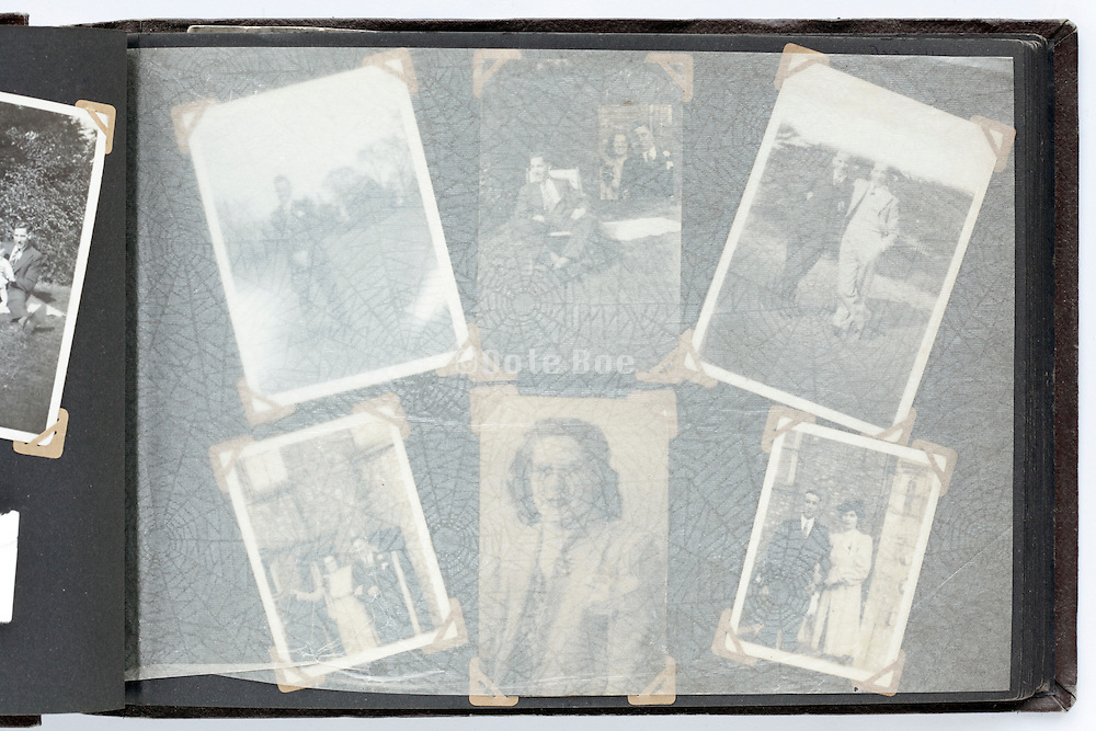 happy times photo album page with protecting cover sheet England