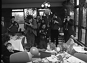 Heinz / Woman's Way, Baby of the Year..1986..21.11.1986..11.21.1986..21st November 1986..The 19th Annual 'Baby of the Year' awards ceremony took place at the Zoological gardens,Dublin..Baby, Alan Smith from Co Meath was the overall winner.Amy Dempsey from Dublin and Brendan Gallagher from Waterford were placed 2nd and 3rd...Image of the photographers getting to grips with the children in the restaurant at Dublin Zoo, Phoenix Park, Dublin.