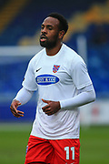 Myles Weston (11) of Dagenham & Redbridge during the The FA Cup match between Mansfield Town and Dagenham and Redbridge at the One Call Stadium, Mansfield, England on 29 November 2020.
