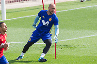 Pepe Reina during the training of the spanish national football team in the city of football of Las Rozas in Madrid, Spain. August 28, 2017. (ALTERPHOTOS/Rodrigo Jimenez)