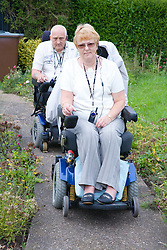 Disabled couple out together,