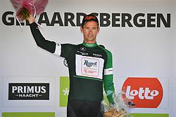 August 19, 2018 - Geraardsbergen, BELGIUM - Dutch Elmar Reinders of Roompot-Nederlandse Loterij on the podium of the final stage of the Binkcbank Tour cycling race, 209,5 km from Lacs de l'Eau d'Heure to Geraardsbergen, Belgium, Sunday 19 August 2018. BELGA PHOTO DAVID STOCKMAN (Credit Image: © David Stockman/Belga via ZUMA Press)