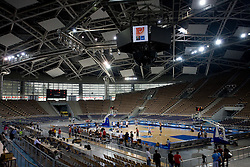 Team of Slovenia during the practice session, on September 11, 2009 in Arena Lodz, Hala Sportowa, Lodz, Poland.  (Photo by Vid Ponikvar / Sportida)