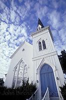 Victorian church in Mendocino CA.  CD scan from 35mm.© John Birchard