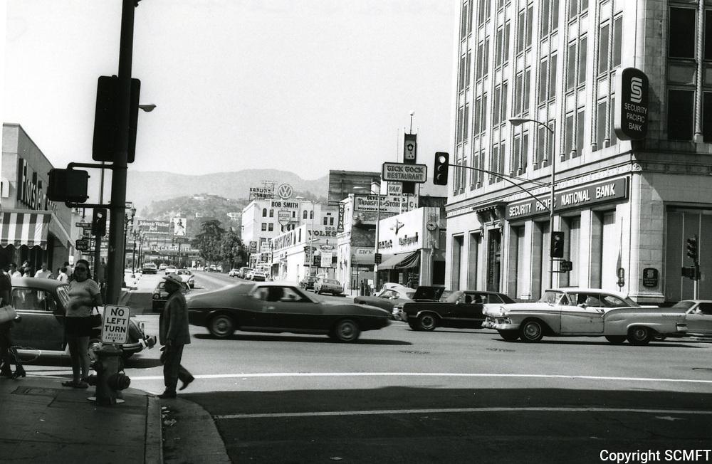 1972 Looking north at Cahuenga Blvd. & Hollywood Blvd.