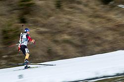 13.12.2014, Biathlonarena, Hochfilzen, AUT, E. ON IBU Weltcup, Staffel, Herren, im Bild Erik Lesser (GER)// during Mens Relay of E. ON IBU Biathlon World Cup at the Biathlonstadium in Hochfilzen, Austria on 2014/12/13. EXPA Pictures © 2014, PhotoCredit: EXPA/ JFK