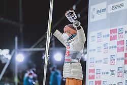 06.01.2021, Paul Außerleitner Schanze, Bischofshofen, AUT, FIS Weltcup Skisprung, Vierschanzentournee, Bischofshofen, Bischofshofen, Finale, Siegerehrung, im Bild 3. Platz Karl Geiger (GER) // 3rd placed Karl Geiger of Germany during winner ceremony for the final of Four Hills Tournament of FIS Ski Jumping World Cup at the Paul Außerleitner Schanze in Bischofshofen, Austria on 2021/01/06. EXPA Pictures © 2020, PhotoCredit: EXPA/ JFK
