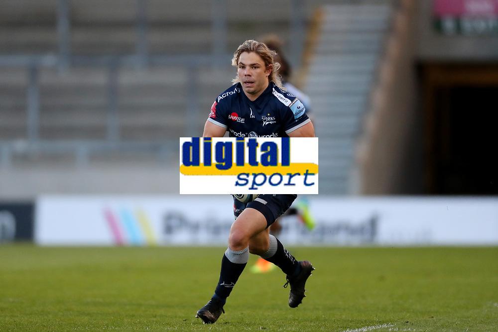 Rugby Union - 2020 / 2021 Gallagher Premiership - Round 18 - Sale Sharks vs Leicester Tigers - A J Bell Stadium<br /> <br /> Faf de Klerk of Sale Sharks