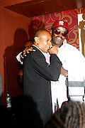 Fab 5 Freddy and Congressional Candidate Kevin Powell at An evening with Dave Chappelle for Kevin Powell for Congress held at Eugene's on July 9, 2008..Kevin Powell runs as a Democratic Candidate for Congress in Brooklyn's 10th Congressional District
