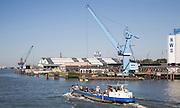Shipping  cranes Port of Rotterdam - NWS Nieuwe Waterwag Silo Schiedam, Netherlands