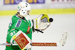 Jeff Frazee of Olimpija during ice hockey match between HDD Olimpija Ljubljana and Dornbirner EC in Erstebank league season 2016/17, on October 24, 2016 in Hala Tivoli, Ljubljana, Slovenia. Photo by Morgan Kristan / Sportida