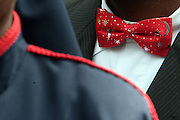 13 August 2011-Harlem, NY - Nation of Islam member's bowties at the Millions March in Harlem with keynote speaker Hon. Louis Farrakhan held at the corner of West 110th and Lenox Avenue in Harlem on August 13, 2011 in New York City. Photo Credit: Terrence Jennings