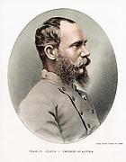 Francis Joseph I (Franz Joseph) 1830-1916. Emperor of Austria from 1848. Tinted lithograph c1880