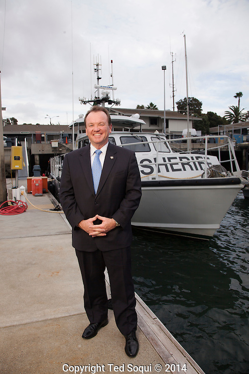 Los Angeles Sheriff Jim McDonnell at the Marina LA Sheriff Station in Marina Del Rey.