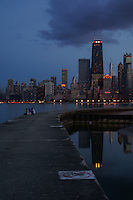Chicago Skyline, North Avenue Beach (2)