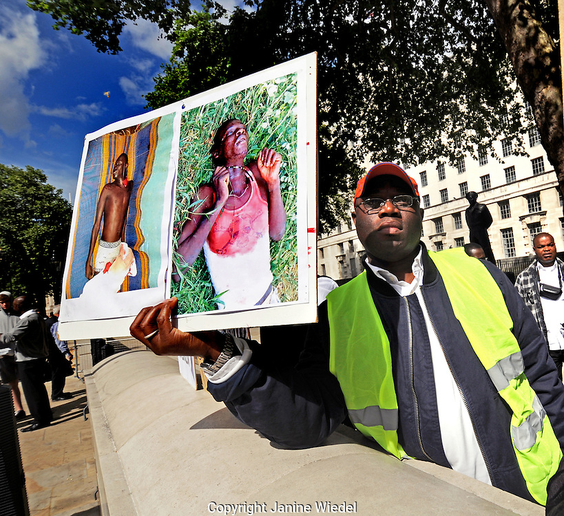 pro President Gbagbo supporters protest interference of France and the UN for rigging elections and creating civil war in the Ivory Coast
