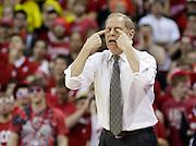 Michigan coach John Beilein gestures during a basketball game. (AP Photo/Andy Manis)