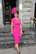 Michelle Robles, Chicago  at the Hotel Meyrick Most Stylish Lady event on ladies day of The Galway Races. Photo:Andrew Downes