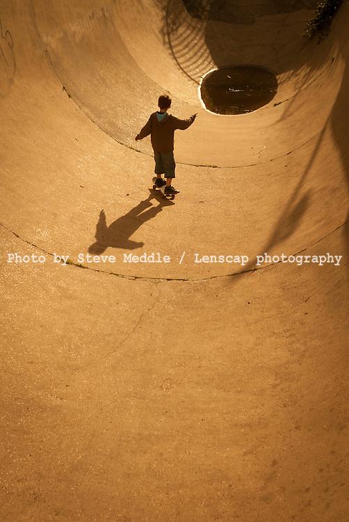 The Rom Skatepark, Hornchurch, Essex, Britain - Augl 2010.