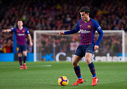 February 2, 2019 - Barcelona, U.S. - BARCELONA, SPAIN - FEBRUARY 02: Philippe Coutinho forward of FC Barcelona with the ball during the La Liga match between FC Barcelona and Valencia CF at Camp Nou Stadium on February 02, 2019 in Barcelona, Spain. (Photo by Carlos Sanchez Martinez/Icon Sportswire) (Credit Image: © Carlos Sanchez Martinez/Icon SMI via ZUMA Press)