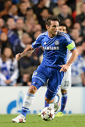 18.09.2013, Stamford Bridge, London, ENG, UEFA Champions League, FC Chelsea vs FC Basel, Gruppe E, im Bild Chelsea's Frank Lampard  during UEFA Champions League group E match between FC Chelsea and FC Basel at the Stamford Bridge, London, United Kingdom on 2013/09/18. EXPA Pictures © 2013, PhotoCredit: EXPA/ Mitchell Gunn <br /> <br /> ***** ATTENTION - OUT OF GBR *****