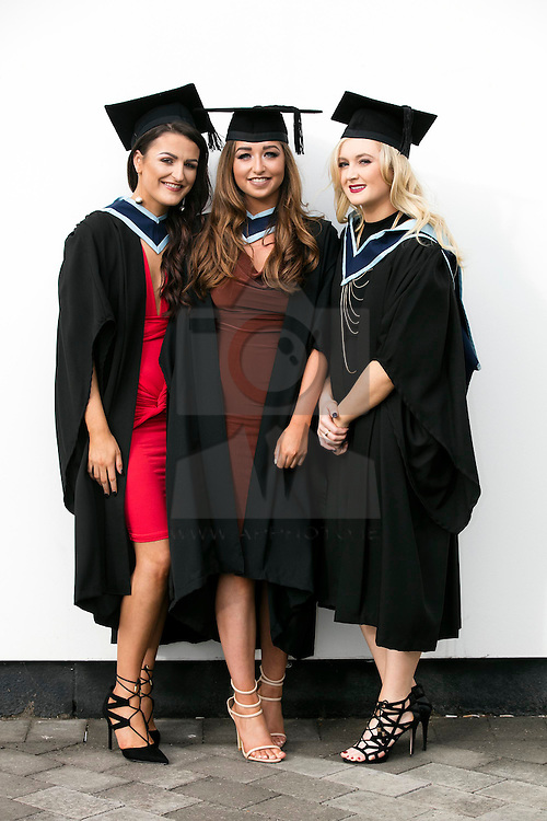Repro Free: 06/11/2015 <br /> Suzanne Sharpe, Crumlin, Niamh Glynn, Lucan and Jessica Brangan, Ashbourne All awarded Bachelor of Arts (Honours) in Early Childhood Care and Education pictured as ITB today hosted its annual graduation ceremony with over 940 full and part-time students receiving awards in various disciplines. This years' event is the largest graduation ceremonies EVER held by the institute. Picture Andres Poveda