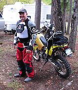 James Pratt with Suzuki DRZ-400S motorcycle  in Clayton, OK