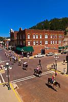 Days of 76 Parade, Main Street, historic Deadwood, Black Hills, South Dakota USA