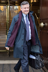 © Licensed to London News Pictures. 10/12/2019. London, UK. Shadow Secretary of State for Health and Social Care Jon Ashworth departs Millbank after appearing on Victoria Derbyshire .  Photo credit: George Cracknell Wright/LNP