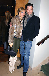 LADY ALEXANDRA SPENCER-CHURCHILL and DAVID PEACOCK at the opening party of Pengelley's, 164 Sloane Street, London SW1 on 22nd February 2005.<br />