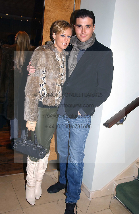 LADY ALEXANDRA SPENCER-CHURCHILL and DAVID PEACOCK at the opening party of Pengelley's, 164 Sloane Street, London SW1 on 22nd February 2005.<br /><br />NON EXCLUSIVE - WORLD RIGHTS