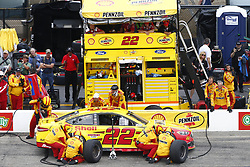 July 22, 2018 - Loudon, New Hampshire, United States of America - Joey Logano (22) comes down pit road for service during the Foxwoods Resort Casino 301 at New Hampshire Motor Speedway in Loudon, New Hampshire. (Credit Image: © Justin R. Noe Asp Inc/ASP via ZUMA Wire)