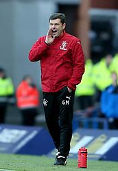 Rangers' interim manager Graeme Murty during the Ladbrokes Scottish Premiership match at the Ibrox Stadium, Glasgow.