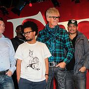 NLD/Amsterdam/20121121 - Presentatie deelnemers comedy avond Lulverhalen, Ad Visser, Joost Buitenweg, Fresku, Feshaye Haylemariam, Andre Wilderdijk