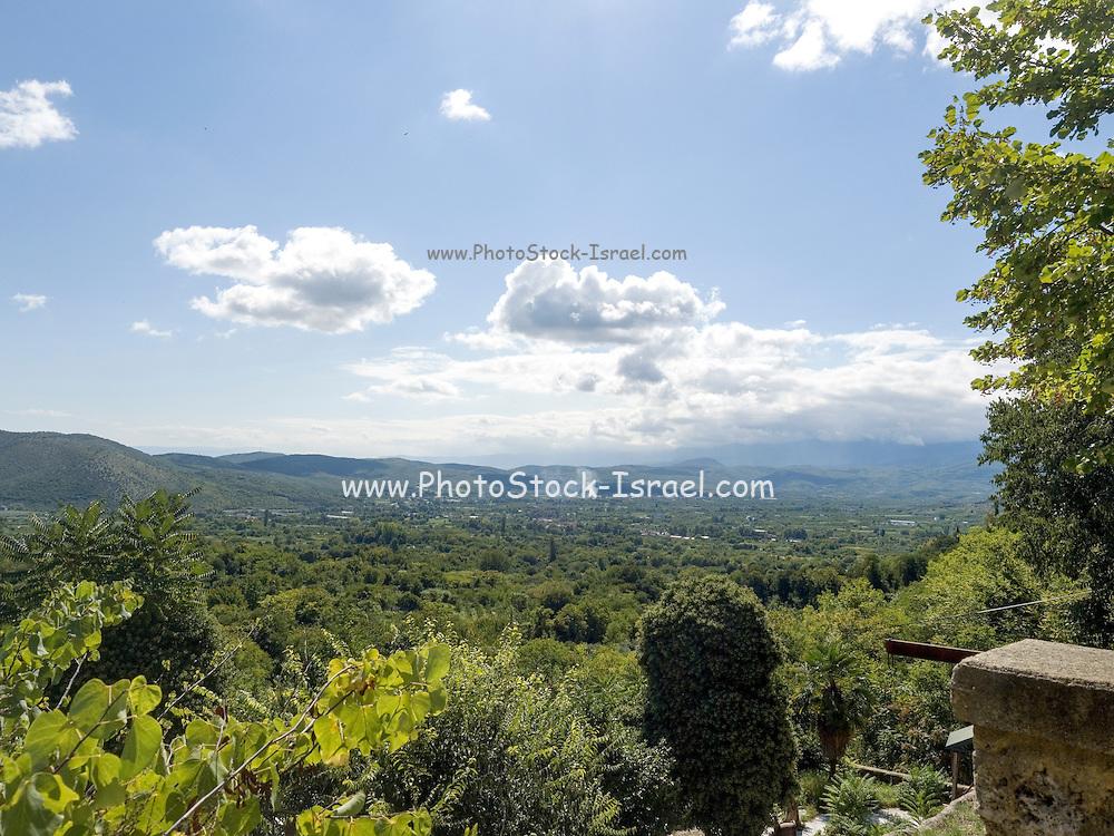 Macedonia landscape near Edessa, Greece