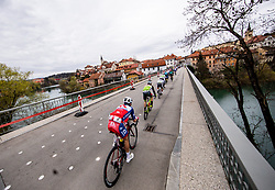 HORVAT Ziga and other riders in Novo mesto during cycling race 6th Grand Prix Adria Mobil 2021, on March 28, 2021, in Novo mesto, Slovenia. Photo by Vid Ponikvar / Sportida